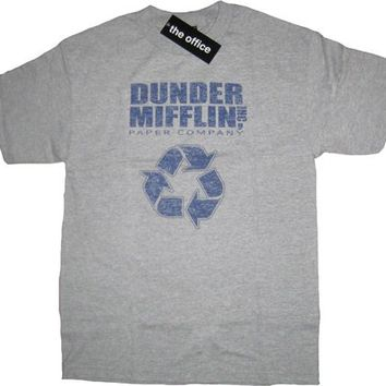 The Office Dunder Mifflin Inc Paper Company Recycle Gray T-shirt