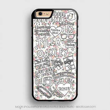 Tyler Oakley Floral Collage iPhone 6 Plus Case iPhone 6S+ Cases