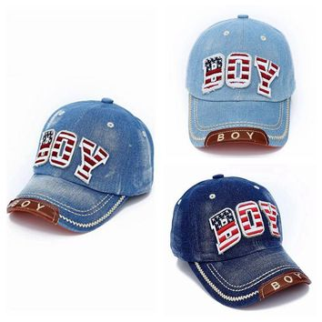 Choice of ( American Boy ) Distressed Denim Hats