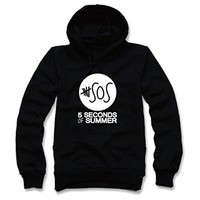Okstar Round 5 Seconds of Summer Hoodie T-shirt-03 (M, Black)