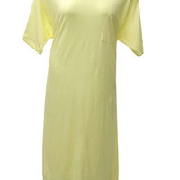 Cotton Nightgown - Yellow