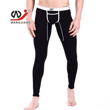 Hot Sale New WJ Men's Low-waist Sexy Long johns thin modal legging pants warm trousers thermal Underwears Pants