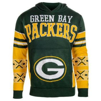 DCCKU3N Green Bay Packers Official NFL 'Ugly Sweater' - Choose Your Style