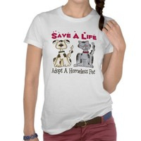 Adopt A Homeless Pet T-Shirt from Zazzle.com