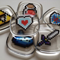 Set of 6 Legend of Zelda coasters