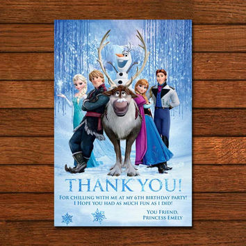 Frozen Thankyou Card Invitation