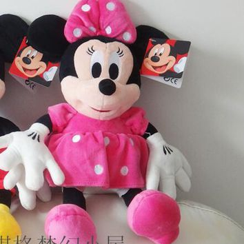 35CM  High Quality cute  Mickey doll  minnie Mouse Stuffed Animals Plush Toys For Children's Gift 1pcs