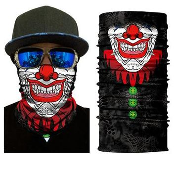 BJMOTO Bicycle Magic Knitting Scarf Headband Outdoor Sports Neck Warmer Cycling Head Face Mask Fierce-looking Mouth Balaclava