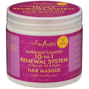 SheaMoisture SuperFruit Complex 10-in-1 Renewal System Hair Masque, 16 oz - Walmart.com