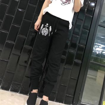 """""""Chrome Hearts"""" Women Cool Casual Personality Print Sweatpants Leisure Pants Trousers"""