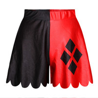 Strong Character 3D Print Pants Dress Slim Pleated Casual Shorts [6049178113]