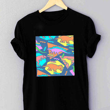 Nineties Dinosaur Pattern - T Shirt for man shirt, woman shirt *NP*