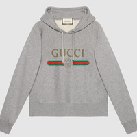 GUCCI Fashion Women Men Gray Top Sweater Pullover Hoodie