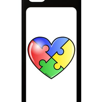 Big Puzzle Heart - Autism Awareness iPhone 5 / 5S Grip Case  by TooLoud