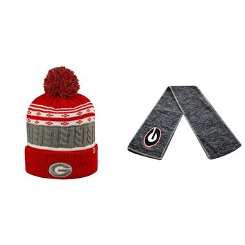 Licensed NCAA  Hail Scarf And Altitude Beanie Hat 2 Pack 18319 KO_19_1
