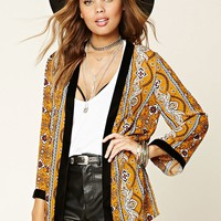 Ornate Open-Front Cardigan