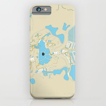 animal kingdom map iPhone & iPod Case by studiomarshallarts