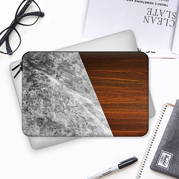 Wooden Marble Macbook 12 sleeve by Nicklas Gustafsson | Casetify