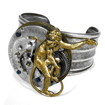 Steampunk Bracelet Cuff Jewelry by edmdesigns  by edmdesigns