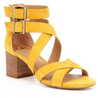 GB Cross-Back Double Ankle Strap Block Heel Sandals | Dillards