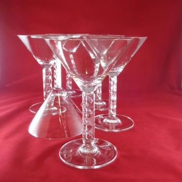 Large Crystal Martini Glasses  S/6