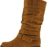 Faux Suede Slouch Boot