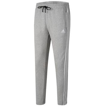 ADIDAS autumn and winter new closing and velvet knit casual trousers Grey