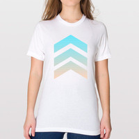Chevron T Shirt - FREE shipping to USA american apparel polyester white graphic tee shirts pastel chevron stripes pink blue chevron