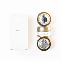 FOREST Gold Travel Candle Set