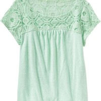 Old Navy Girls Lace Yoke Tops