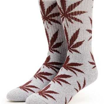HUF Plantlife Grey & Wine Crew Socks