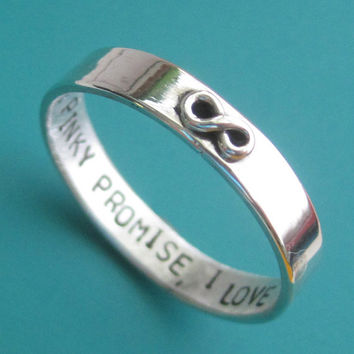 Custom Stamped Infinity Ring by sudlow on Etsy