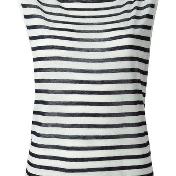 DCCKIN3 T By Alexander Wang horizontal strip sleeveless top