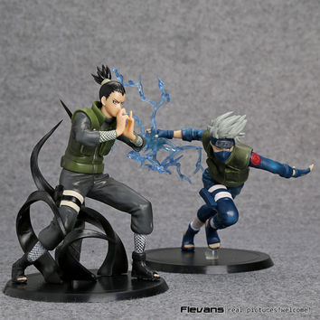 Anime Naruto Action Figure Shikamaru  Hatake Kakashi Anime Figure Naruto Shippuden Movie Figure Toys 2set bundle