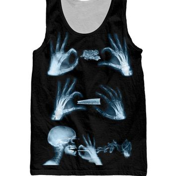 X-Ray of The Roll Up - Women's Tank Top - CannaSummer Collection