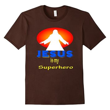 Jesus is my Superhero Christian T-shirt. Jesus Christ