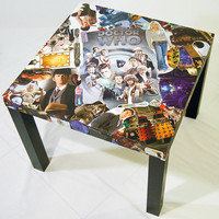 Doctor Who Comic Collage Table FREE SHIPPING USA