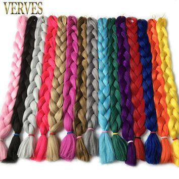 PEAP78W VERVES long 82 inch,165g/pcs synthetic Braiding Hair Kanekalon Fiber Hair Extensions free shipping crochet hair braid
