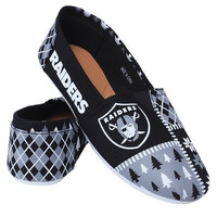 Oakland Raiders Official NFL Canvas Slip-on Ugly Shoes