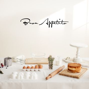 """Buon Appetito -  36"""" x 7"""" - Vinyl Wall Decal for Dining Room or Kitchen"""