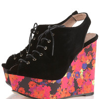 WHIMSICAL Suede Lace-Up Wedges - Heels - Shoes - Topshop USA