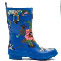 Blue Floral Molly welly Womens Molly Rain Boot | Joules US