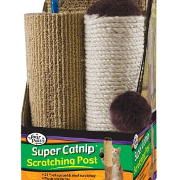 Four Paws Super Catnip Scratching Post Cat Scratcher 21 inches