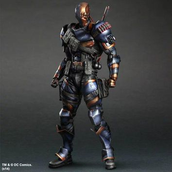 Batman Dark Knight gift Christmas SQUARE ENIX Play Arts KAI DC Comics Batman: Arkham Origins Deathstroke  PVC Action Figure Collectible Model Toy 27cm KT2898 AT_71_6