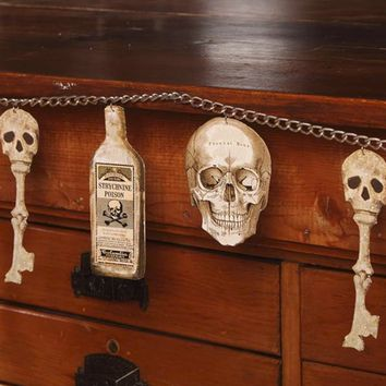 Apothecary Bottles and Bones Chain Garland