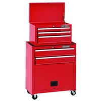 Craftsman Tool Chest 5 Drawer Storage Cabinet Toolbox Metal Rolling Portable Red
