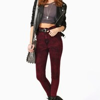 Hot Acid Skinny Jeans - Red