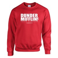 Dunder Mifflin PAPER The Office Funny SCHRUTE SWEATSHIRT