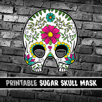 Day of the Dead Skull Mask | Día de los Muertos | Sugar Skull Halloween Mask