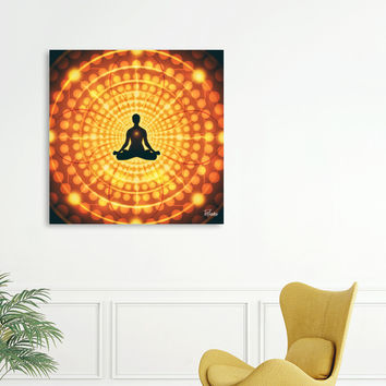 «Artistic CIII - Meditation» Canvas Print by ArtDesignWorks - Numbered Edition from $59 | Curioos